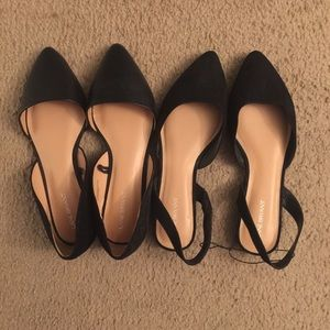 Lane Bryant Sandals velvet/suede and faux leather